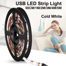 USB 5V светодиодная лента Flexible Under Bed Night Lamp Led Light Strip 2835 SMD 1M 2M 3M 4M 5M диодная