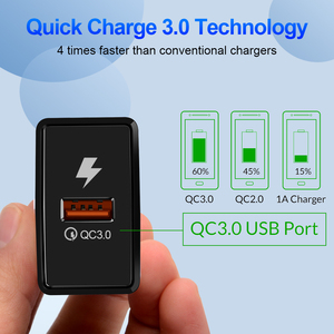 Image 3 - ROMICHW 3.0A Quick Charge 3.0 Fast Charger For iPhone X 8 Samsung Xiaomi Redmi Note 7 Pro QC3.0 Wall Mobile Phone Charge Adapter