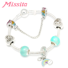 MISSITA Fantasy Rainbow Series Charm Bracelet with Safety Chain Bracelets for Women Party Anniversary Jewelry Gift