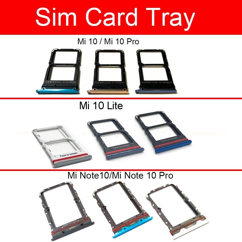 Sim Card Tray Holder For Xaiomi Mi 10 Lite Pro Mi Note 10 Pro Sim Tray Micro SD Card Holder Slot Adapter Repalcement Parts