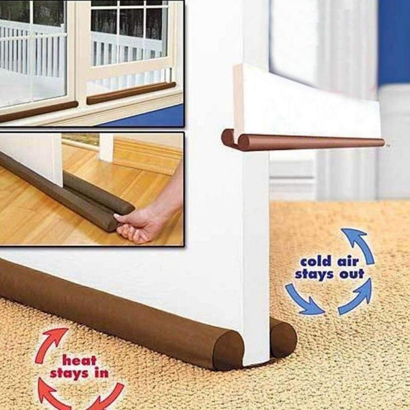 Double Door Sealer Door Blocker Decor Protector Draft Stopper Energy Saving For Home