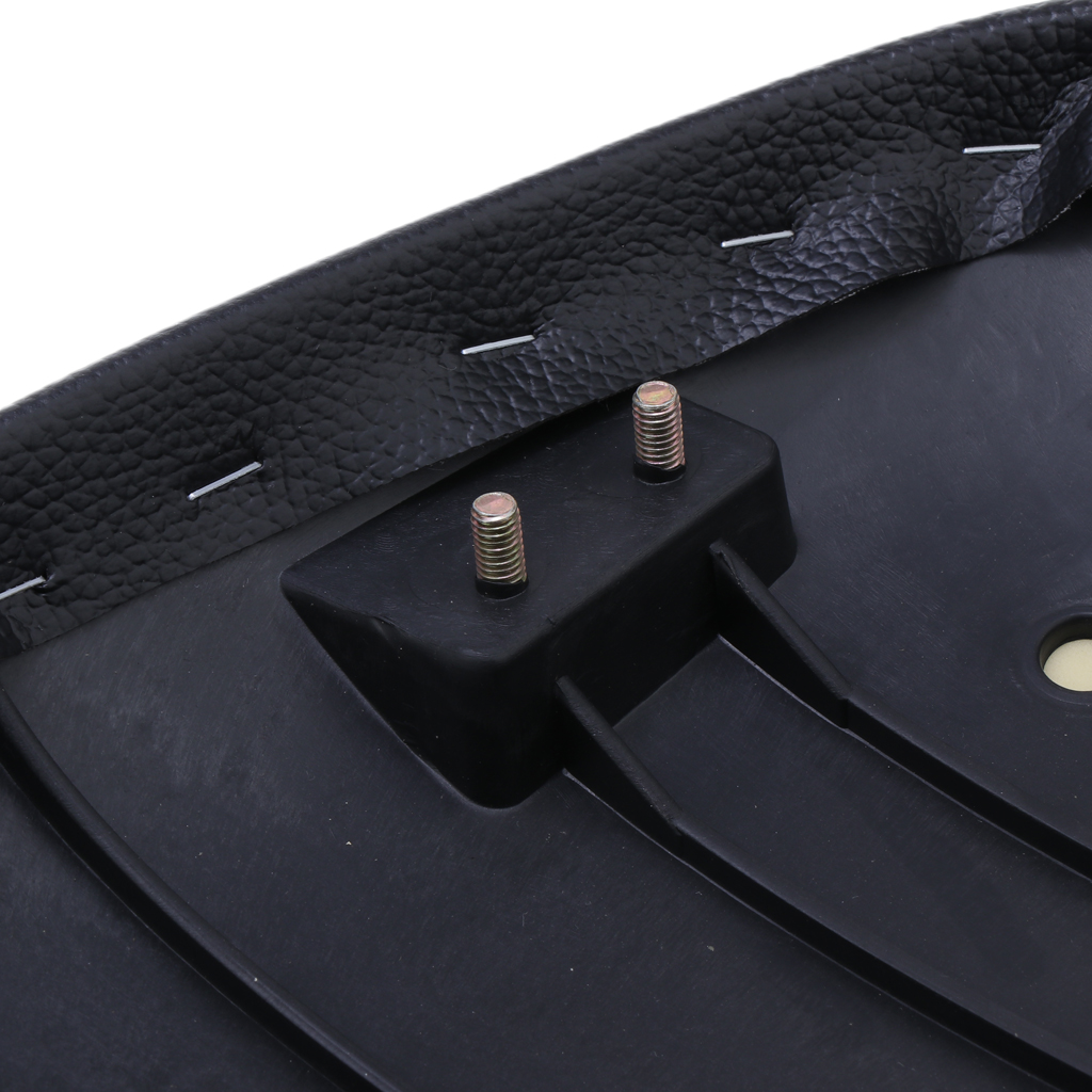 Motorcycle Flat Vintage Seat & Soft PU Leather Black Universal
