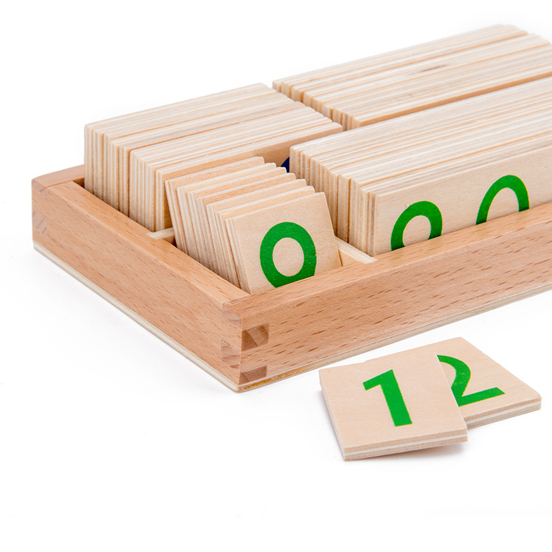 Educational-Toys Teaching-Aids Montessori Numbers Preschool Wooden Math Children's 1-9000-Learning-Card