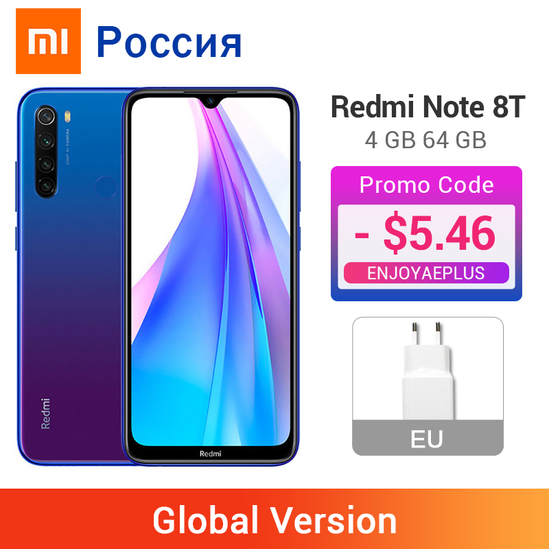 Global Version Xiaomi Redmi Note 8T 8 T 4GB 64GB Smartphone NFC Snapdragon 665 Octa Core 48MP Quad Cameras 4000mAh Big Battery(China)