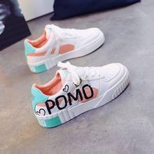 Женская Весенняя модная обувь на плоской подошве; Цвет белый