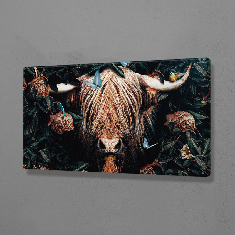 Highland Cow Animal Poster Canvas Wall Art Decoration Prints Dorm Living Room Home Bedroom Decor Painting