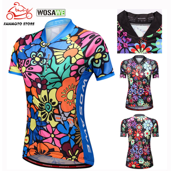 WOSAWE Women Summer Mtb Short-sleeved Shirt Motorcycles Tops Breathable Cycling Jersey Bicycle Maillot Ciclismo Bike Clothes недорого