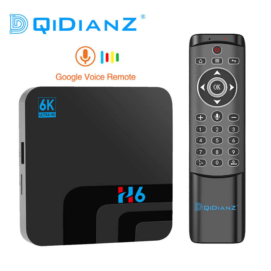 Android 9.0 Smart TV BOX Allwinner H6 MAX Quad Core 4G DDR3 32G EMMC ROM 6K Set  Top Box Wifi media player TV Receiver Set-top Boxes