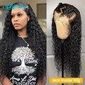 32925737441 - Pelucas de cabello humano Frontal de encaje para mujeres negras peluca Frontal rizada con ondas de agua Peluca de pelo humano rizado largo Peluca de onda profunda completa