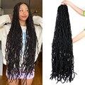 Современные королевские длинные волосы Nu Locs, вязаные крючком, 36 дюймов, искусственные локоны для наращивания, синтетические мягкие богини, ...
