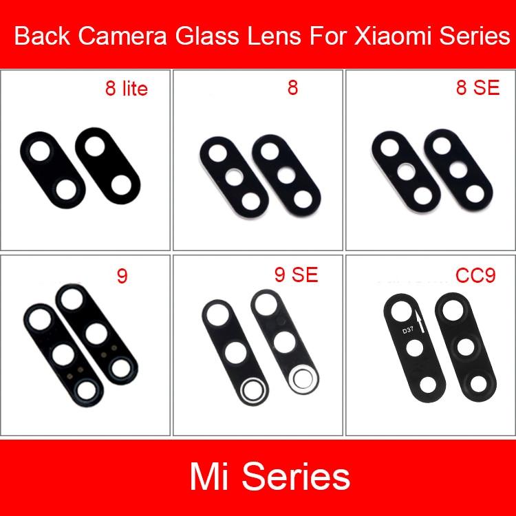 Back Rear Camera Lens For Xiaomi Mi 2 2s 3 4 4C 5 5S 5X 6 6X 8 9 CC9 SE Plus Lite Camera Lens Cover Replacement Repair Parts