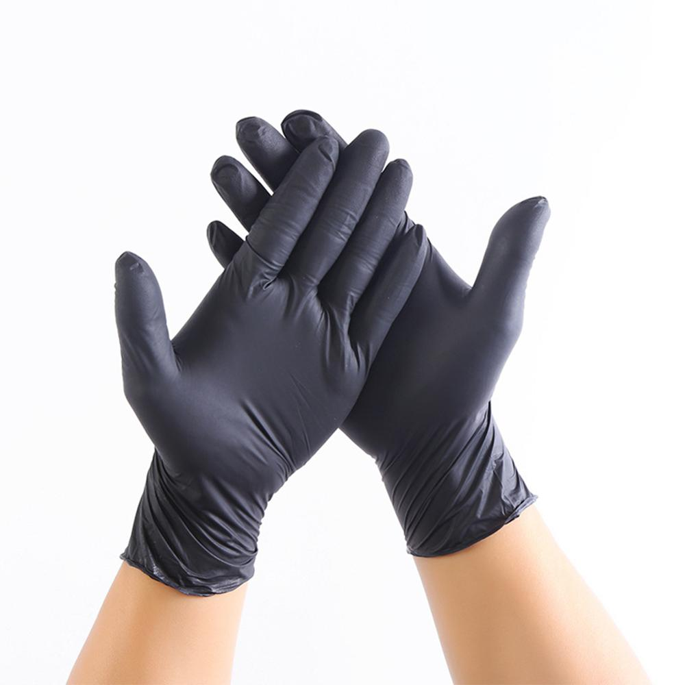 20PCS Black Disposable Gloves Latex Kitchen Medical Work Rubber Gloves Universal For Left And Right Hand Hand Protection