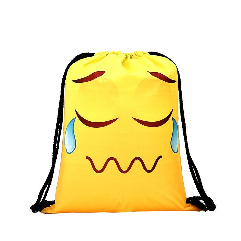 Yellow Drawstrin Backpac Kdrawstring Bag Fashion Women Printing Travel Softback Men Casual Bags Women's Shoulder Funny New  3D