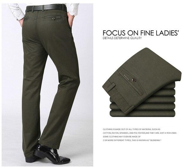 Мужские повседневные штаны, фирменные Классические длинные брюки, прямые, хлопковые, деловые, мужские, плотные, коммерческие, большие