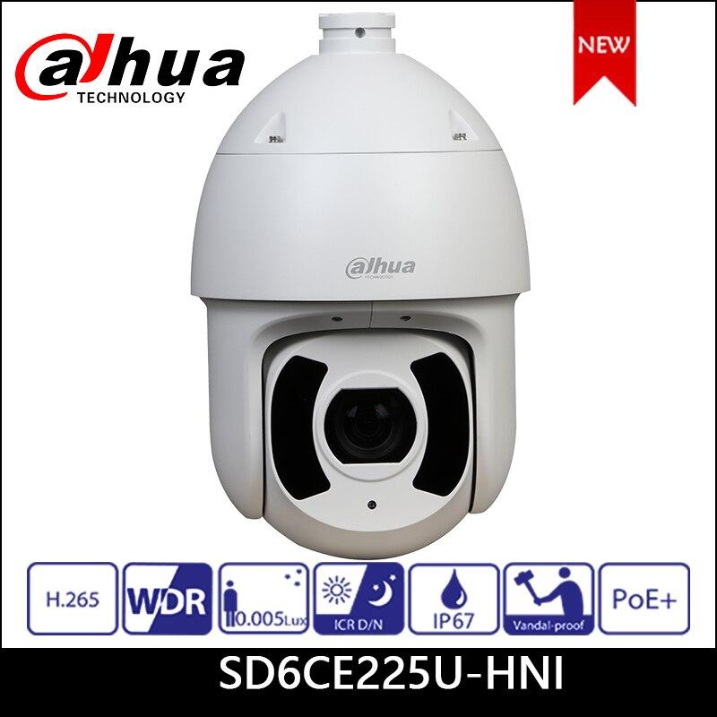 Dahua IP камера 2MP SD6CE225U HNI 4,8 мм ~ 120 мм 25x Starlight IR PTZ сетевая камера Поддержка PoE + камера безопасности DH SD6CE225U HNI