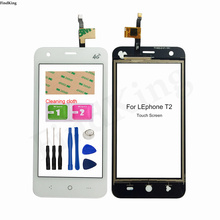 4.5'' Mobile Touch Screen For Lephone T2 Touch Screen Front Glass Digitizer Panel Glass Sensor Tools 3M Glue Wipes