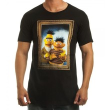 Sesame Street Bert and Ernie Framed T-Shirt(China)