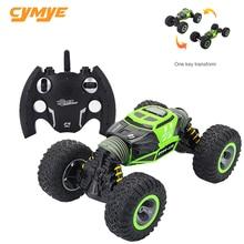 Cymye RC Car 4WD Double sided 2.4GHz One Key Transformation All terrain Vehicle Varanid Climbing Car Remote Control Truck