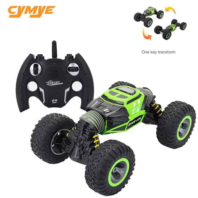 Cymye voiture radiocommandée 4WD Double face, 2.4GHz, une clé, Transformation, véhicule tout terrain, Varanid, camion descalade