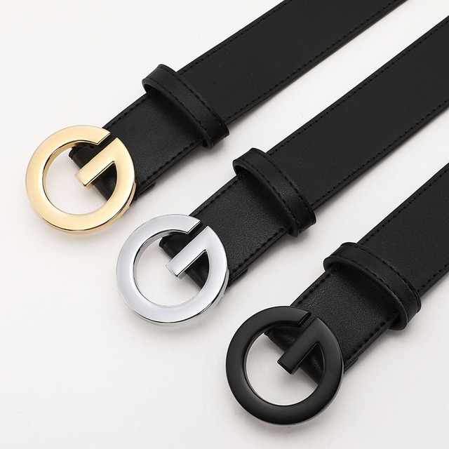 High Quality Fashion Luxury Brand G buckle Belts for Women