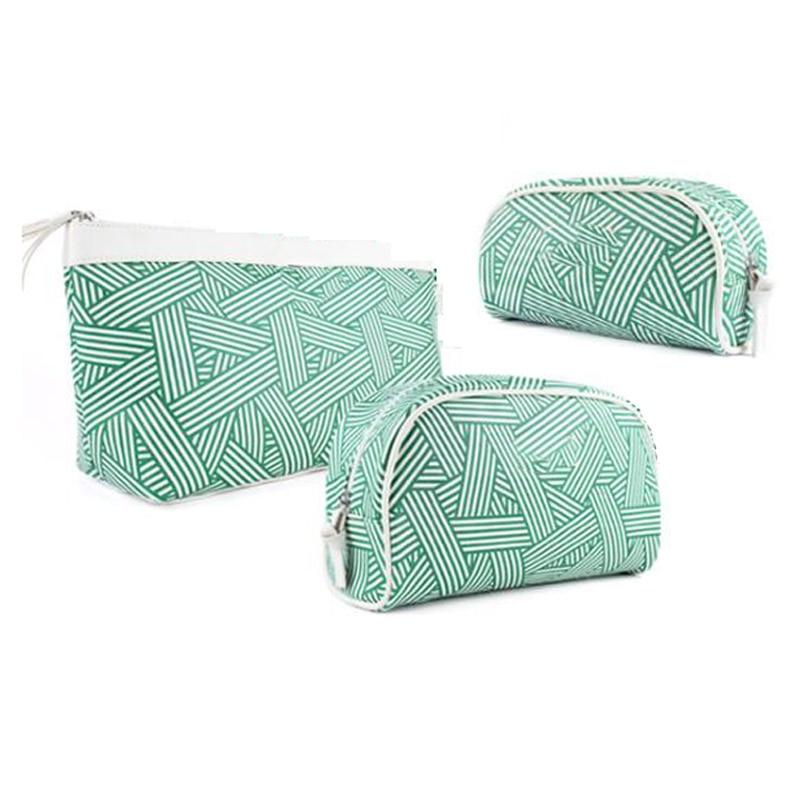 3-Piece Makeup Kit Multifunctional Kit Portable Cosmetic Bag Cosmetic Case Beauty Makeup Tool Storage Bag Travel Wash Bag