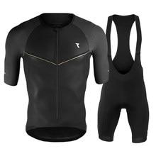 2020 novo preto ryzon pro equipe de ciclismo manga curta maillot ciclismo ciclismo terno da bicicleta dos homens verão respirável conjunto