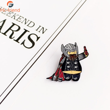 2019 New Super Hero Thor Cartoon Brooch Avengers 4 gods medal personalized backpack accessories