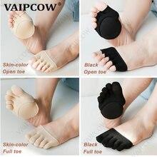 2 пары 5 пальцев ног дышащая хлопковая губка поддержка ухода