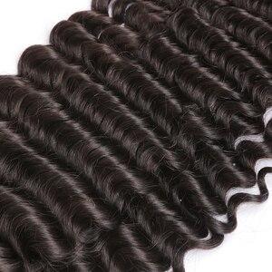 Image 4 - 28 30 32 40 אינץ Loose עמוק גל חבילות 100% שיער טבעי הרחבות 1 3 4 חבילות עסקות ברזילאי שיער מים גל חבילות רמי