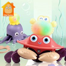 Baby Pull Rope Toy Cartoon Sea Animal Traction Line Car Cute Rubber Teether Hanging Game Early Development Toys For Infant Gift