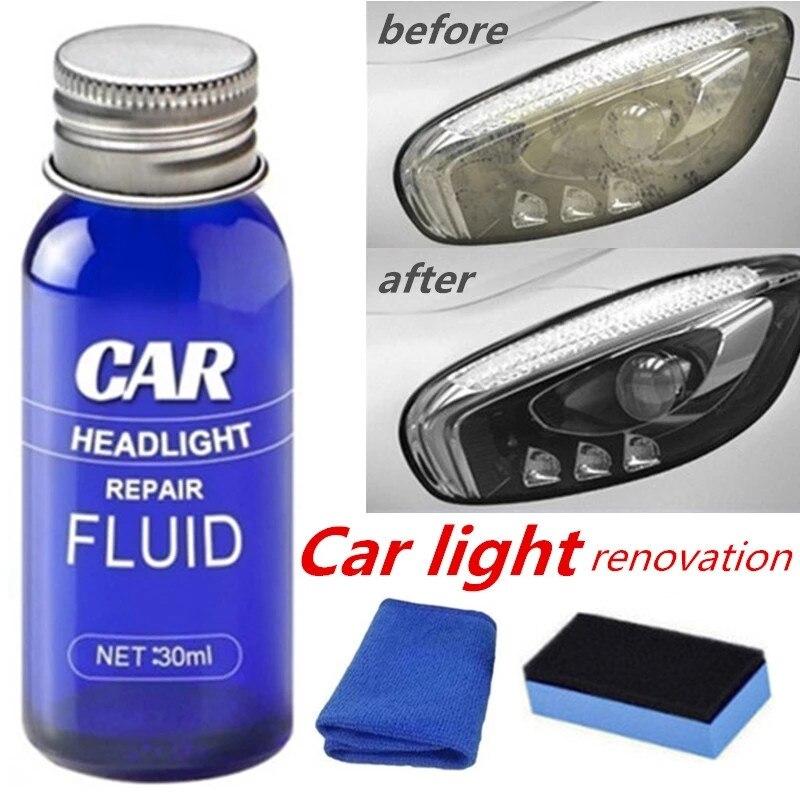 10 мл/30 мл автомобильных фар жидкость ремонт Анти-Царапины и обслуживания и ремонта фар для полировки автомобиля для чистки линз восстановле...