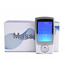 Dispositivo inteligente de massagem corporal, maquina estimulador de aliviar a dor muscular, 16 modos de pulso eletrônico digital para massagear o corpo, dispositivo elétrico inteligente de terapia corporal
