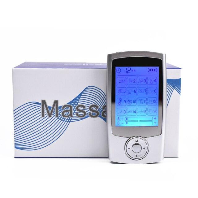 Smart Gesundheit 16 Modus Digitale Elektronische Impuls Massager Muscle Stimulator Schmerzen Relief Maschine Electro Therapie Körper Massage Gerät