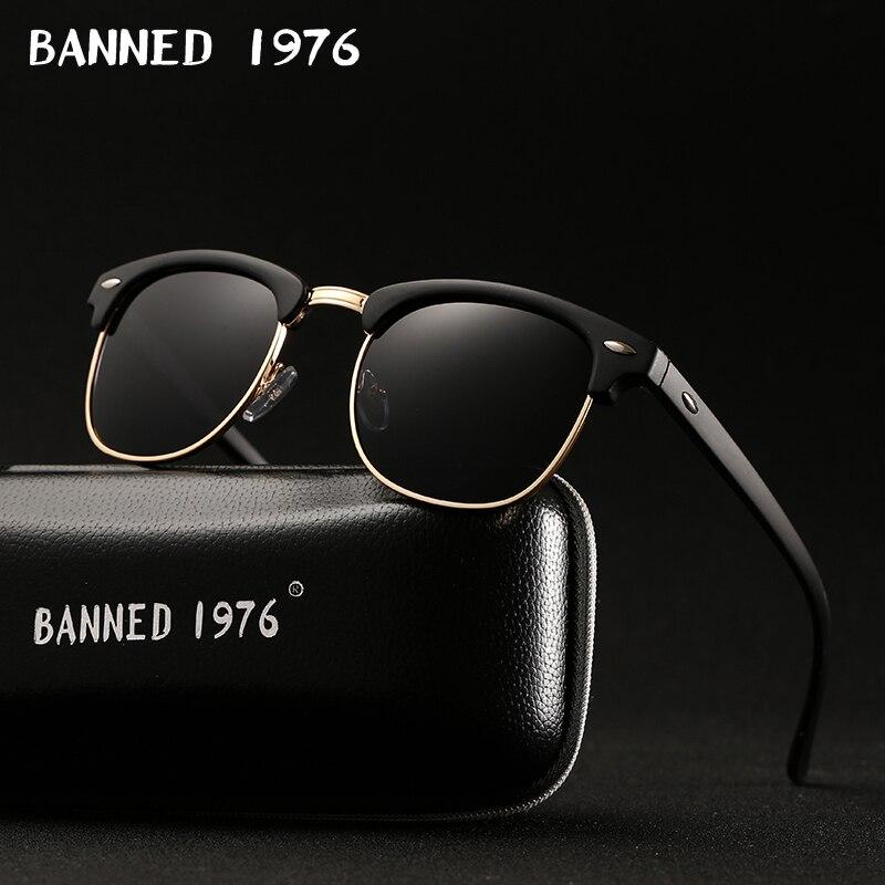 Uv400 hd polarizado óculos de sol das mulheres dos homens clássico moda retro marca óculos de sol revestimento drive shades gafas de sol masculino