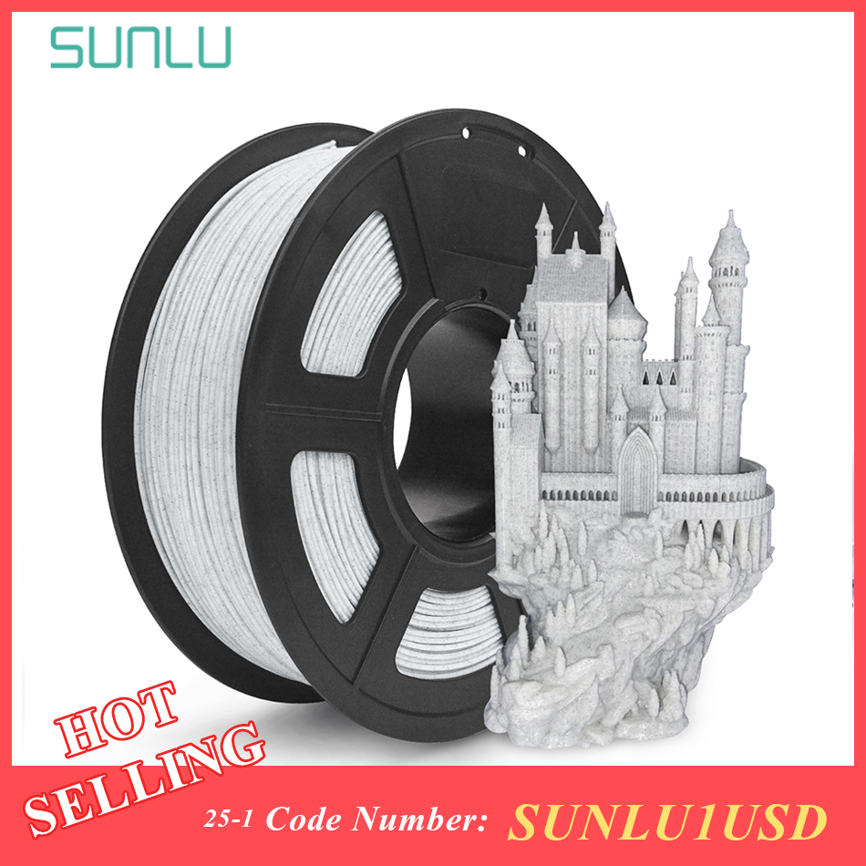 SUNLU Marmor PLA 3d Filament 1,75 MM 1KG Rock Textur Marmor Farbe 3D Drucker Druck Filament Dimension Genauigkeit + /-0,02mm