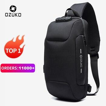 OZUKO 2021 новая многофункциональная сумка через плечо для мужчин противоугонные сумки через плечо мужские водонепроницаемые короткие сумки для путешествий
