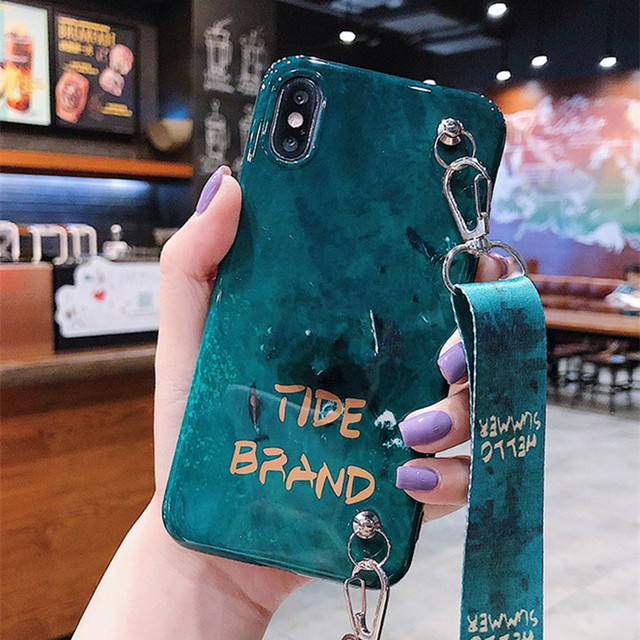 Case Cover Fashion Green Patterned Soft Silicon For iphone mobiles