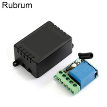 цена на Rubrum 433 Mhz Wireless RF Remote Control Switch DC 12V 1CH Relay Receiver DIY Module For 433mhz Smart Home Remote Transmitter