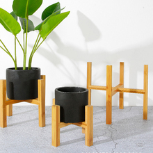Bonsai-Holder Flower Modern-Shelf Balcony Wood Bamboo Home with Foot-Pad Smooth-Surface