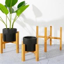 Libre de pie de soporte para bonsái casa Balcón de maceta de madera para flores titular con pie de superficie lisa estante moderno para oficina