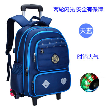 Trolley School Bags 2/6 trolley school backpack Girls boys Backpack Wheels School Bags Detachable Children Rolling Backpacks