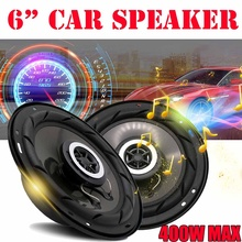 2 Pcs 6 Inch 400W Car Audio Speaker 4 Wa