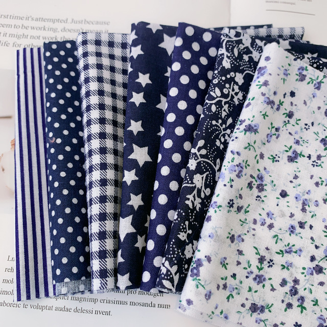 25x25cm  Cotton Fabric Printed Cloth Sewing Quilting Fabrics for Patchwork Needlework DIY Handmade Accessories 3