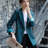 Green Stripe Blazer