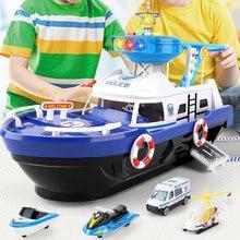 Veículos brinquedo interativo música iluminação pista de simulação inércia navio crianças presente para crianças fontes de aprendizagem precoce