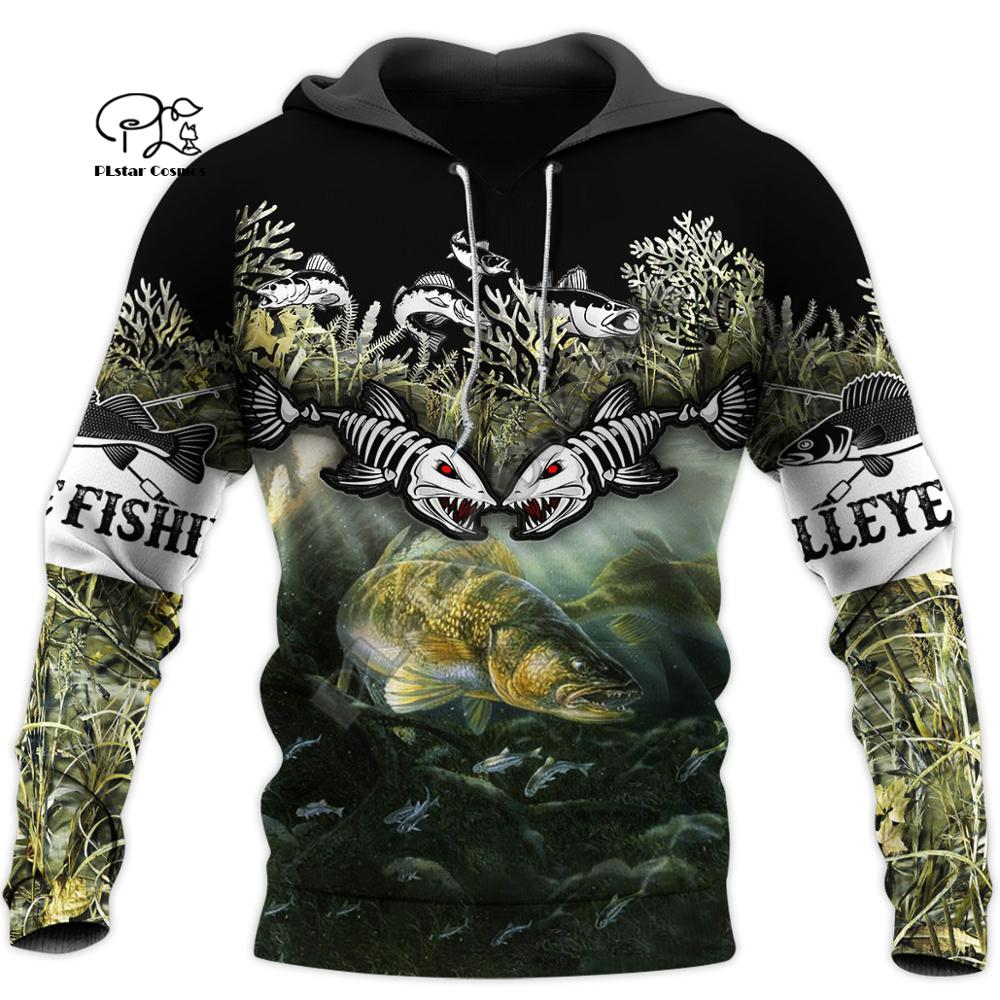 PLstar Cosmos Animal Newest Carp Bass Fishing Fisher Streetwear Long Sleeve Tracksuit 3DPrint Zip/Hoodies/Sweatshirts/Jacket A-8