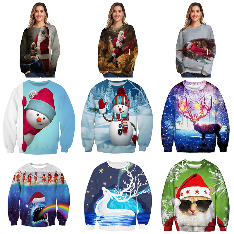 Ugly Sweater Christmas Men/women Elk Cosplay Sweaters Cool Boy Worth Having Sweter Hot Selling Fashion Style Christmas Sweater