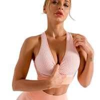 Camisas deportivas de Yoga para mujer, ropa interior con sujetador acolchado de alto impacto, parte de atrás bonita, sin costuras, entrenamiento deportivo, novedad de 2020