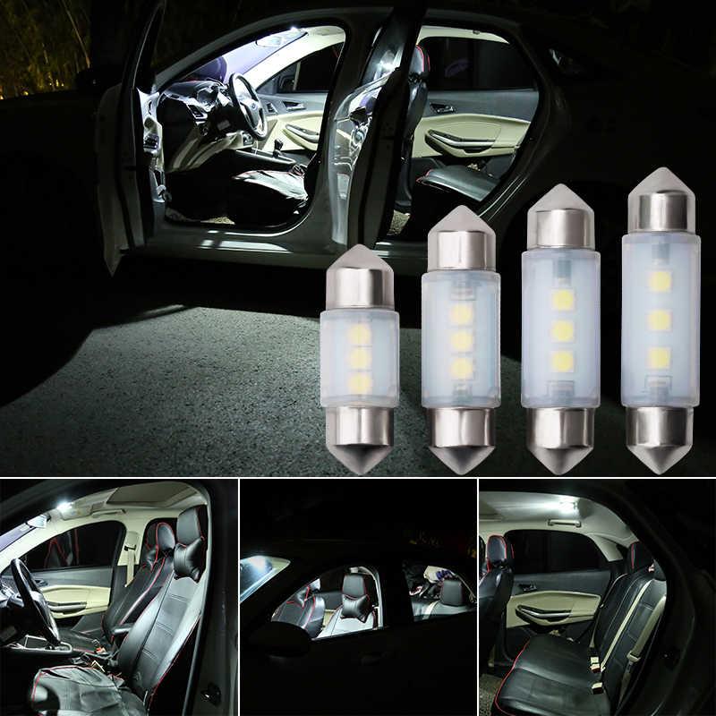 Canbus Festoon 31-36-39-41mm samochód wewnętrzna lampka sufitowa Doom światła kopułowe 12V C5W mała żarówka Auto pojazdu lampa diodowa lampa oświetlająca tablice rejestracyjną