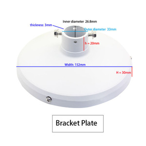 Image 4 - Staffa di montaggio a parete per telecamera Dome di sorveglianza antipioggia per esterni in lega di alluminio compatibile con la telecamera IP Samsung Hikvision Dahua